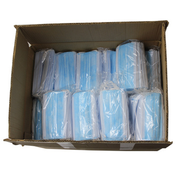 Stock 3 Ply Disposable Protect Air Pollution Face Mask With Nose Wire