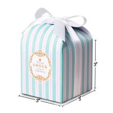 Handmade Colorful Striped Present Paper Boxes For Food