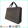 Print Logo Paper Shopping Bag Ribbon Handle
