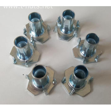 Carbon steel Half thread Hopper Feed T-Nuts Furniture