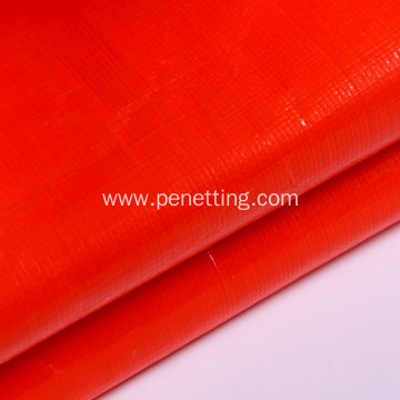 Red PE tarpaulin fabric used for wrapping packing