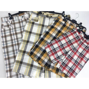 Men's Plaid Check Golf Shorts