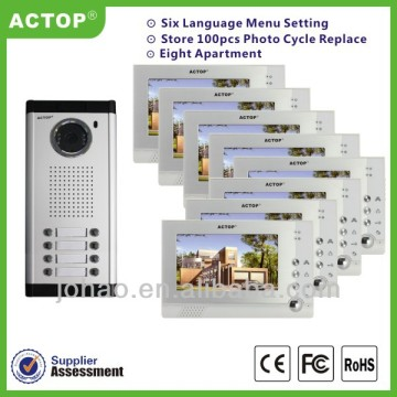audio doorbell wired video door phone intercom for multi-apartment