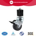 Braked Square Expander Swivel TPE Institutional Caster