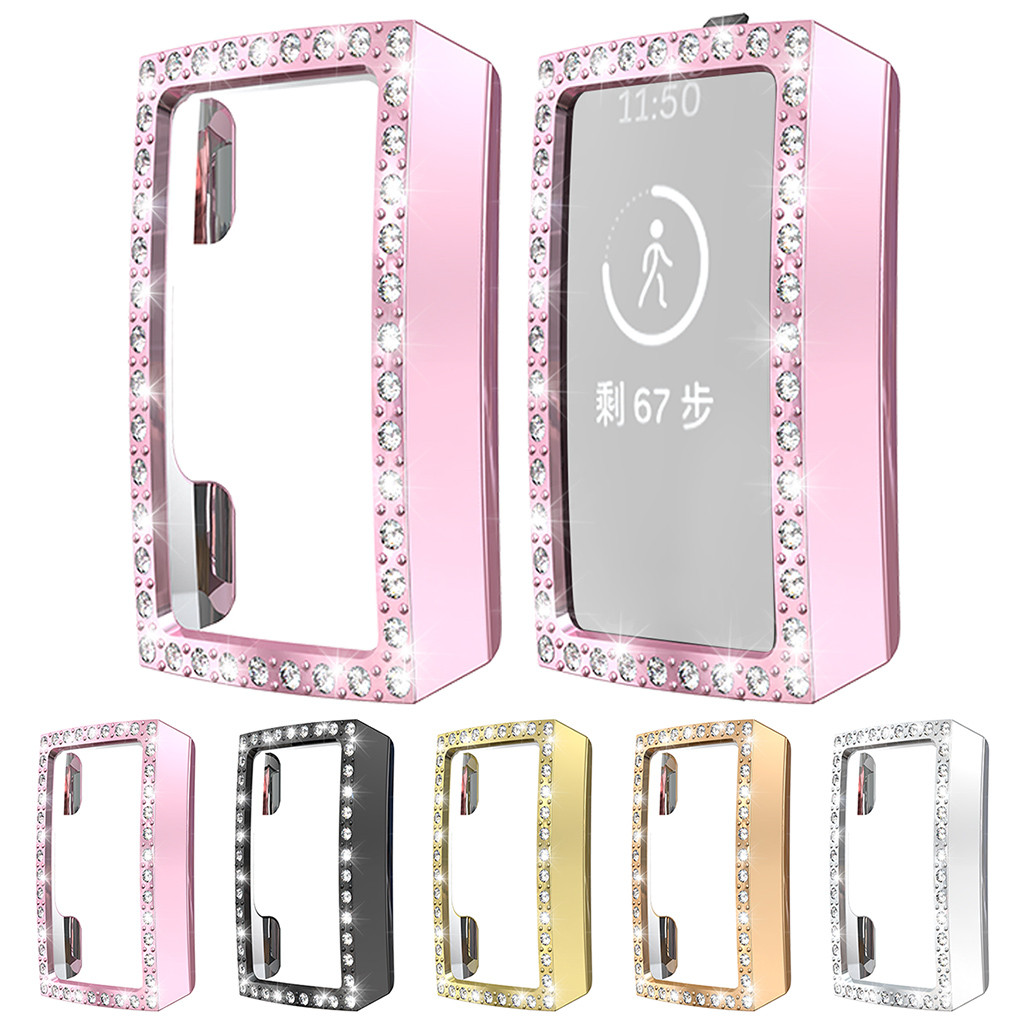 20% For Fitbit Charge 3 Case Ultra-Slim Luxury Crystal Screen Case Cover Shell for Fitbit Charge Smart Watch Band Accessories