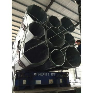12 Meters Galvanized Power Octagonal Lighting Poles