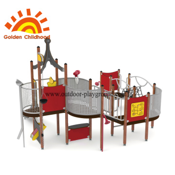 HPL outdoor playhouse equipment for children