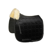 Fashion sheepskin saddle pad with fake diamonds