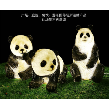 LED outdoor luminous panda lights
