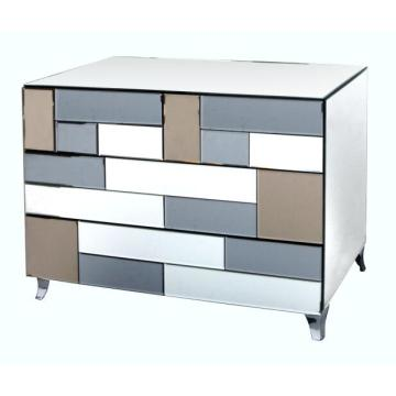 6 Drawer Colored Mirror MDF painting Chest