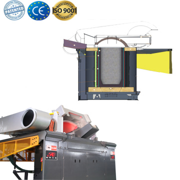 Industrial steel scrap heater induction melting furnace