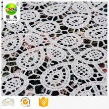 waterproof 100% polyester chemical lace embroidery fabric
