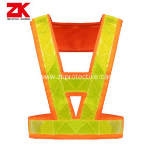100% polyester v shape reflective safety belt running