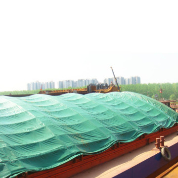 Green Heavy Duty Waterproof Tarpaulin Covers For Boatyard