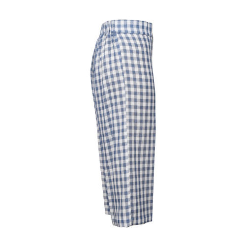 High Waist Casual Harem Pants Checks Trousers