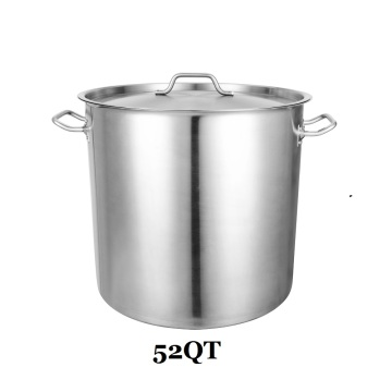 Commercial Grade 52QT Cooking Pot Stainless Steel