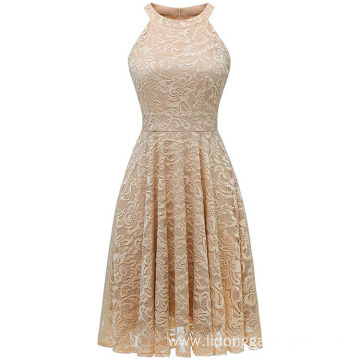 New Sleeveless Women Lace Dresses Evening Dress
