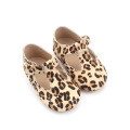 Leopard Wholesale Leather T Bar Baby Dress Shoes