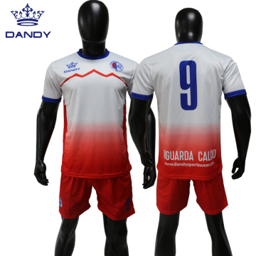 Custom sublimation mens soccer top and short