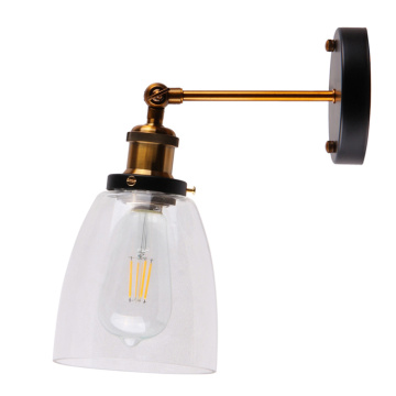 Indoor E27 Lamp Holder Glass Wall Lamp