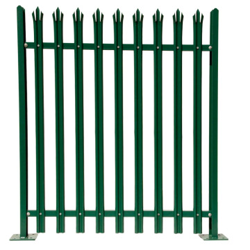 Powder Coated metal fence steel palisade fence designs