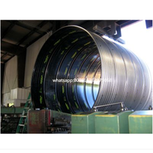 Full automatic steel corrugated culvert pipe making machine