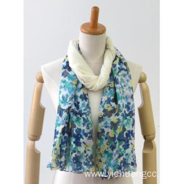 newest coloed square casual printing ladies woven shawl