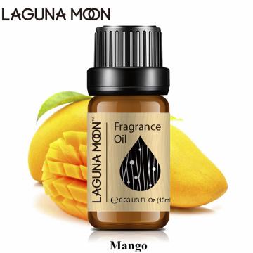 Lagunamoon Mango 10ml Fragrance Oil Fresh Linen Baby Powder Bubble Gum Strawberry White Musk Oil Aroma Plant Oil