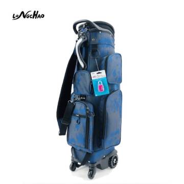 Amazon hot sale Golf Bag with Locking Wheels Golf Bags Chassis Latest Integrated Handgrip