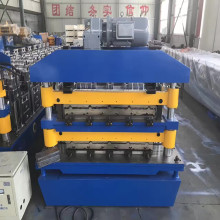 Double steel roof rolling machine