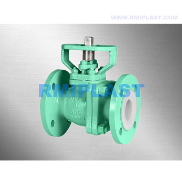 PTFE FEP Liner Ball Valve With Mounting Pad