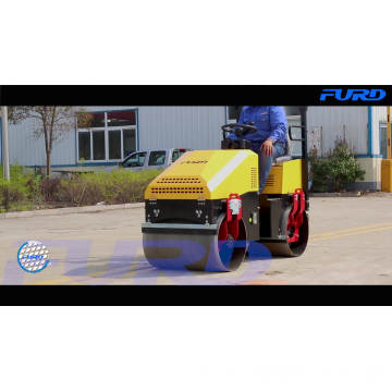 1 Ton Vibratory Tandem Asphalt Roller Compactor With Variable Speed