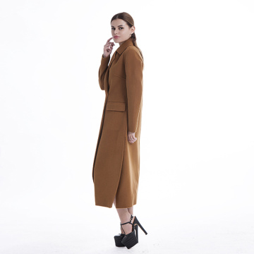 Fashion women's classic cashmere wool blended overcoat