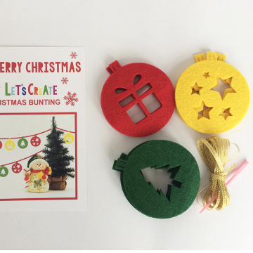 Christmas DIY felt bunting banner and flag