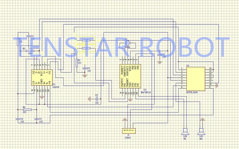 100pcs Ultrasonic Module HC-SR04 Distance Measuring Transducer Sensor Samples Best prices