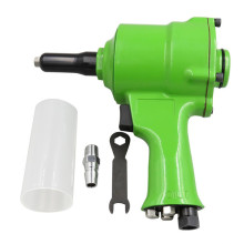 Pneumatic Pistol Type Green Pop Rivet Gun 1/4 Inch Operated Alloy Air Riveter Tools Staple Gun Premium Automatic Rivet Tool Set