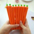 Novelty Fresh Carrot Gel Pen Kawaii 0.5mm Black Ink Pens Promotional Birthday Gift Stationery School & Office Supply