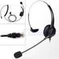 New 4-Pin RJ11 Monaural Corded Operator Call Center Telephone Headset Headphone