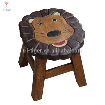 Home funiture kids stool 4 legs wooden stool