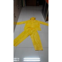 Black Waterproof PVC Coated Rain Suit