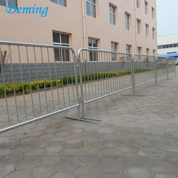 Galvanized Temporary Road Safety Traffic Crowd Barrier Fence