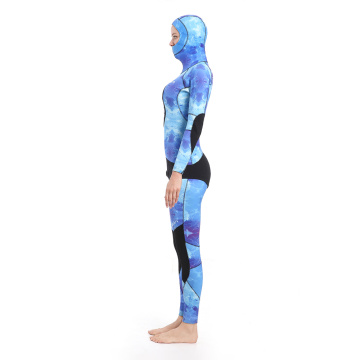 Seaskin Blue Water Camo Spearfishing Wetsuits for Women