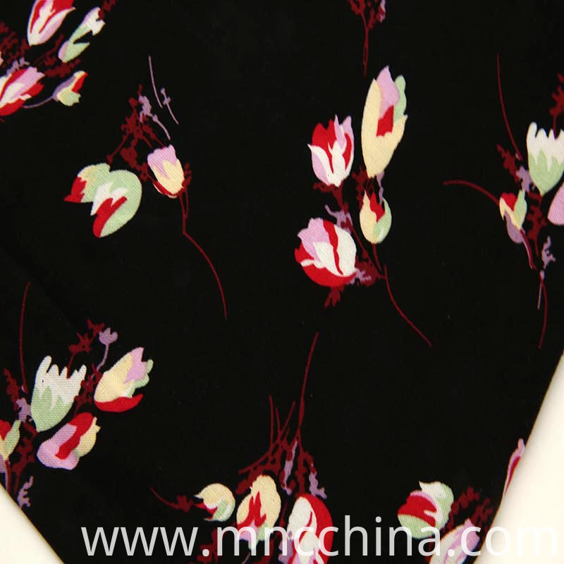 floral design on rayon chaille with lenzing.
