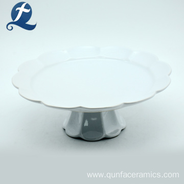 Moder Customized White Ceramic Cake Plate