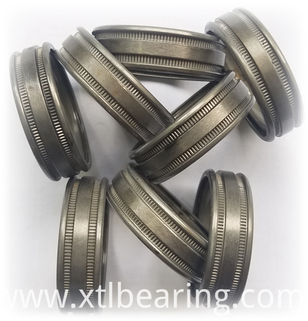 Double knurled deep groove bearing ring