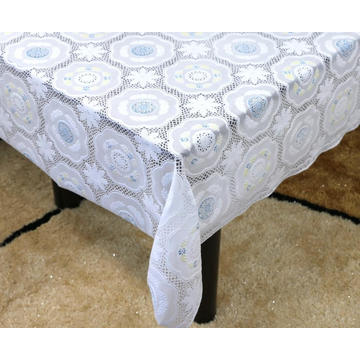 Printed pvc lace tablecloth oval by roll