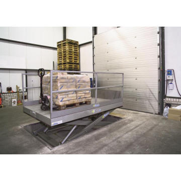 Loading dock material lift