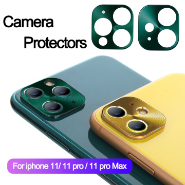 Metal Camera Lens Screen Protector Case Cover Protective Ring for iPhone 11 Pro Max Metal Alloy Phone Back Protector