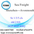 Shenzhen Port Sea Freight Shipping To Avonmouth