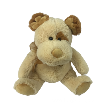 Plush Dog Brown With A Bow